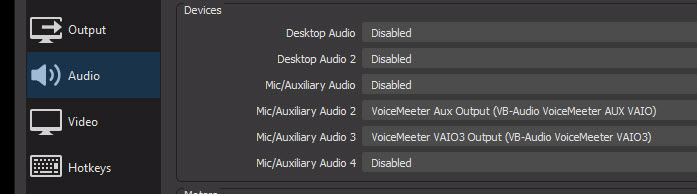 OBS Audio Settings